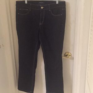WHBM black cropped jeans